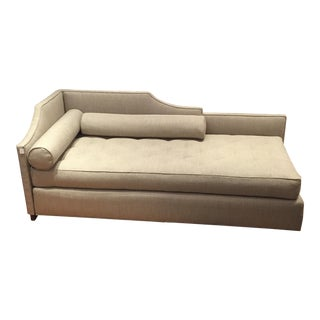 Contemporary Gray Upholstered Daybed For Sale