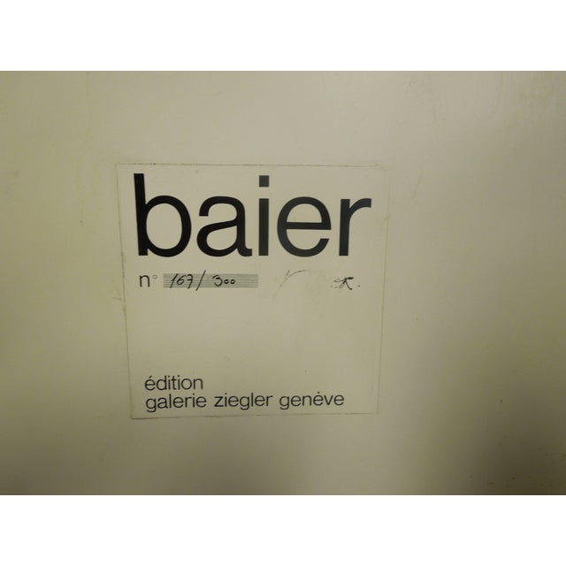Modern Rare 1971 Jean Baier Metal and Wood Abstract, Geneva Gallerie For Sale - Image 3 of 6