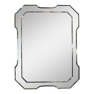 Green Italian Fontana Arte Style Mirror