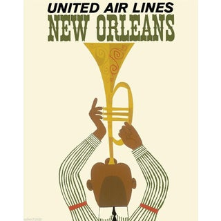 Vintage Reproduction New Orleans Travel Poster