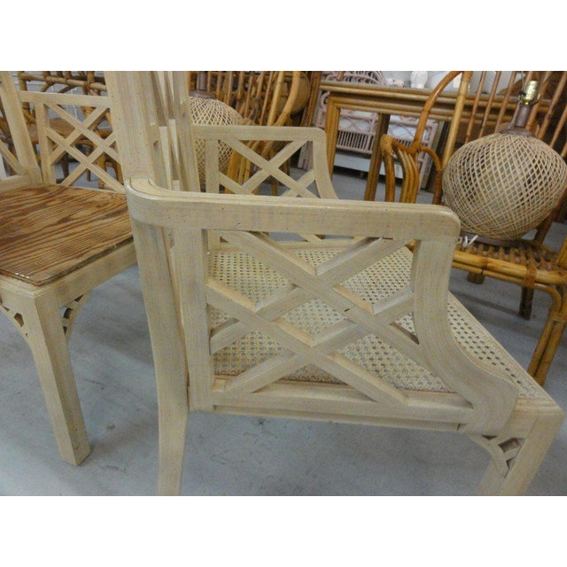 Palm Beach Regency Fretwork Chairs - Set of 6 - Image 4 of 11