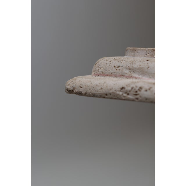 1980s Modern Travertine Coffee Table For Sale - Image 5 of 6