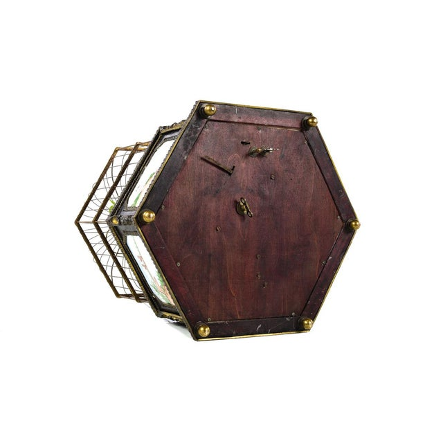 Antique Animated Bird Cage Music Box With Clock For Sale - Image 10 of 10