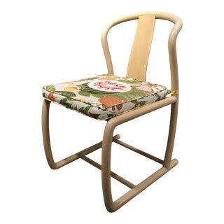 Set of 6 Karl Springer Style Bamboo Chairs For Sale
