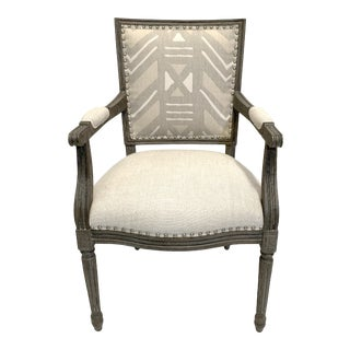 Palecek Lion Square Back Arm Chair For Sale