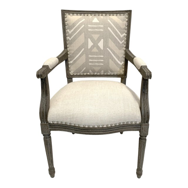 Palecek Lion Square Back Arm Chair For Sale