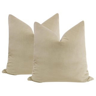 "22"" Stone Velvet Pillows - a Pair"