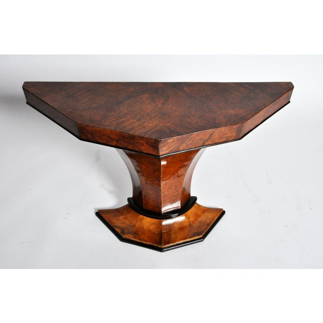 Art Deco Pedestal Console Table For Sale - Image 4 of 11