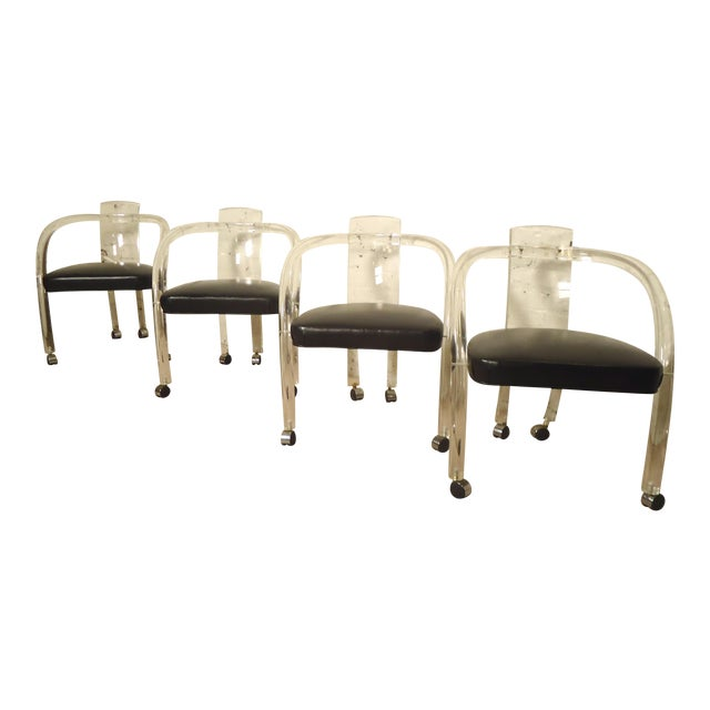 "Wycombe-Meyer Lucite ""Loop"" Chairs - Set of 4 - Image 1 of 8"