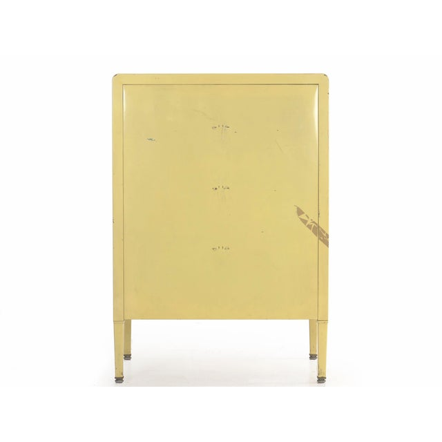 Norman Bel Geddes Circa 1930s Art Deco Yellow Enamel Chest of Drawers Dresser by Norman Bel Geddes For Sale - Image 4 of 13
