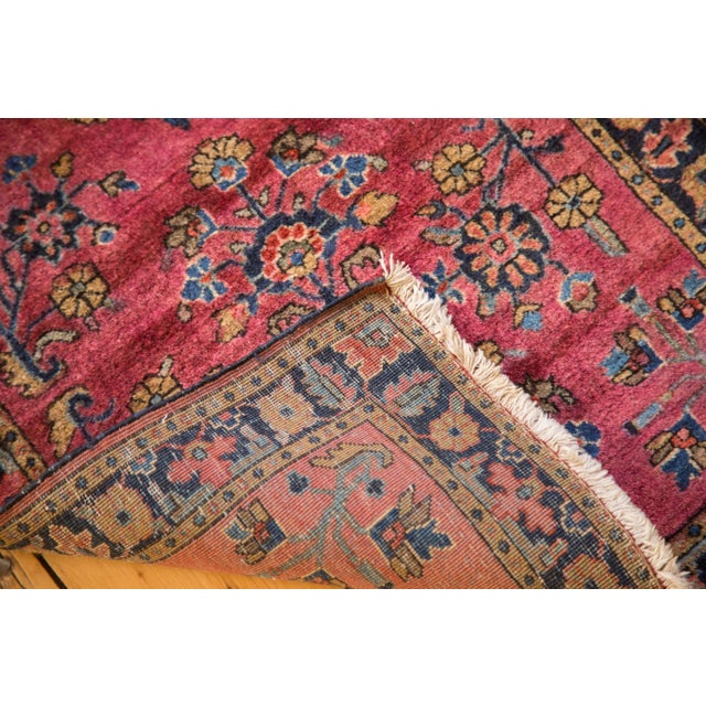"Textile Vintage Mohajeran Sarouk Rug Mat - 1'11"" X 2'6"" For Sale - Image 7 of 7"