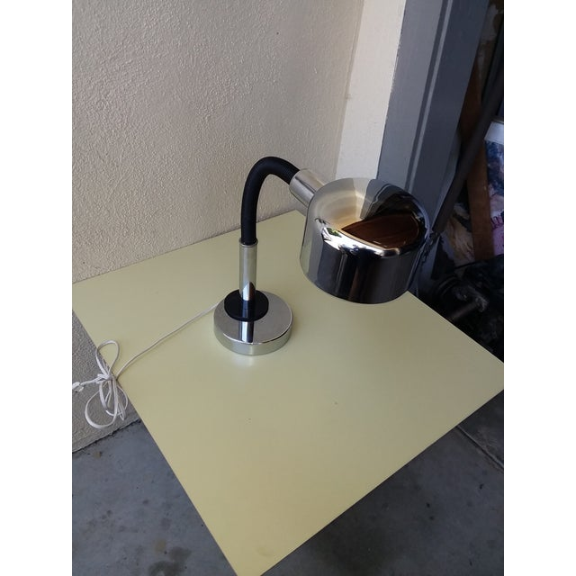 1970's Space Age Chrome Desk Lamp For Sale In San Diego - Image 6 of 8