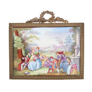 19th C. French Painted Porcelain Plaque For Sale