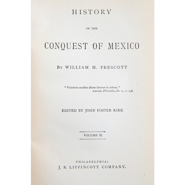History of the Conquest of Mexico by William H. Prescott For Sale - Image 5 of 8
