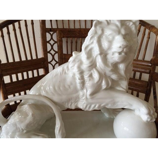 Large Vintage Spanish Ceramic Lion - Image 3 of 6