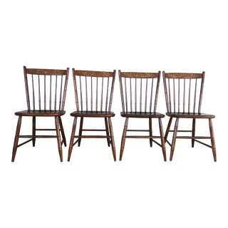 L. Hitchcock Riverton Finish Prospect Side Chairs - Set of 4 For Sale
