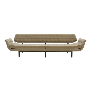La Gondola Sofa by Edward Wormley for Dunbar, Expertly Restored, Gray Mohair For Sale