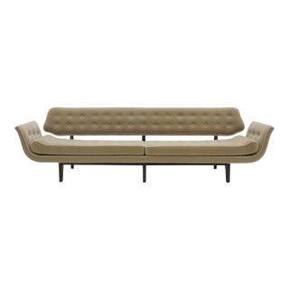 La Gondola Sofa by Edward Wormley for Dunbar, Expertly Restored, Gray Mohair For Sale