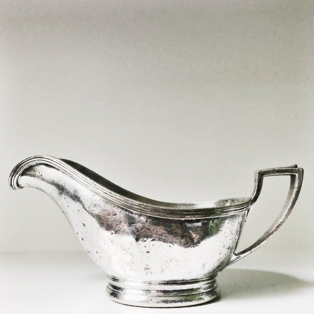 Metal Vintage 1960s Silver Plate Gravy Boat From the Plaza NYC For Sale - Image 7 of 7