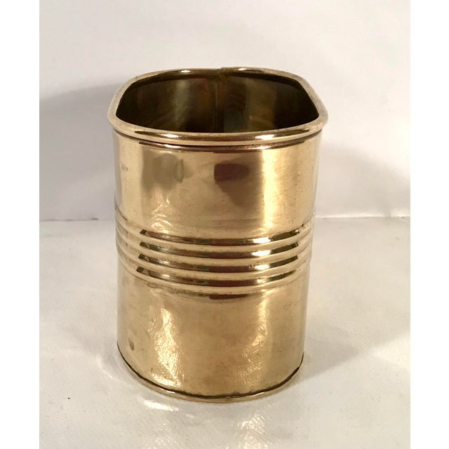 Nice vintage brass letter box. Great oblong shape and modern ribbed design.