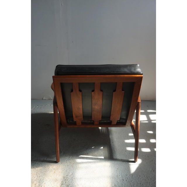Selig 1960s Danish Modern Kofod Larsen for Selig Walnut Lounge Chair For Sale - Image 4 of 8