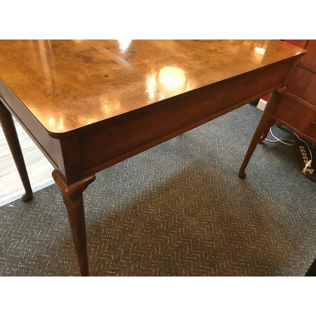 Baker Furniture Burl Walnut Writing Table Desk - Image 8 of 10