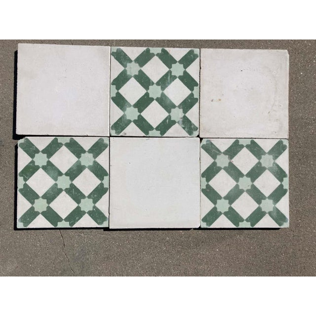 Mid 20th Century Moroccan Encaustic Cement Tile Sample with Moorish Design For Sale - Image 5 of 7