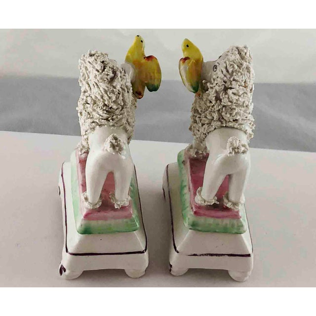 Late 19th Century Late 19th Century Staffordshire Poodles Retrieving Birds - a Pair For Sale - Image 5 of 10