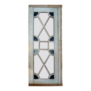 French Louis XVI Stain Glass Framed Window or Door For Sale