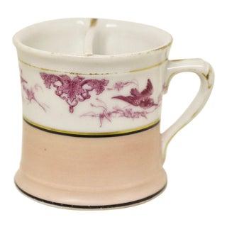 Antique Porcelain Pink Shaving Mug For Sale