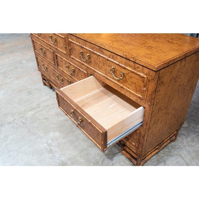 1960's Vintage Ficks Reed Faux Bamboo 7 Drawer Dresser For Sale - Image 10 of 13