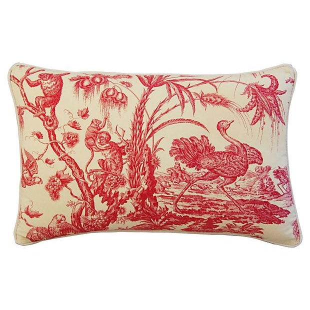 Marius Boudin French Toile & Linen Pillow - Image 3 of 6