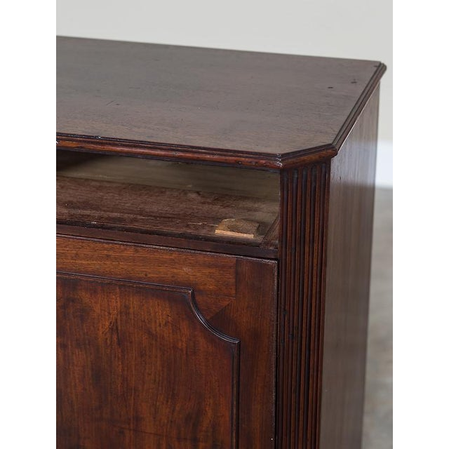 George III Antique English Mahogany Cabinet circa 1780 For Sale - Image 9 of 10