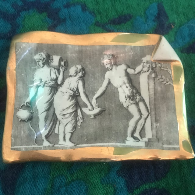 Vintage Fornasetti Milano for Bonwit Teller Tray Dish For Sale - Image 10 of 11