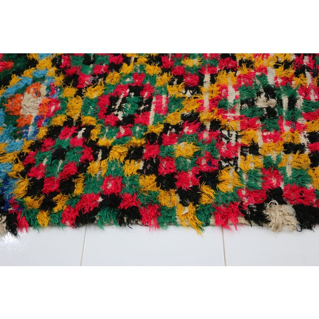 1980s 1980s Boucherouite Moroccan Rug - 3′7″ × 6′7″ For Sale - Image 5 of 6