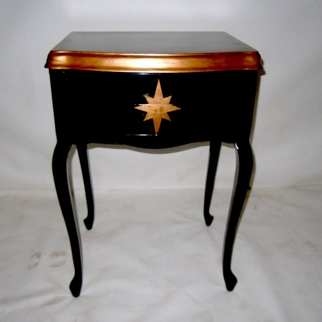 30s Mid Century Ebony Side Table - Image 2 of 8