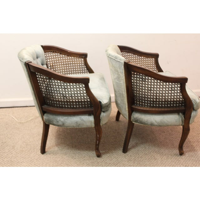 Cane & Tufted-Back Ladies Chairs - A Pair - Image 8 of 10