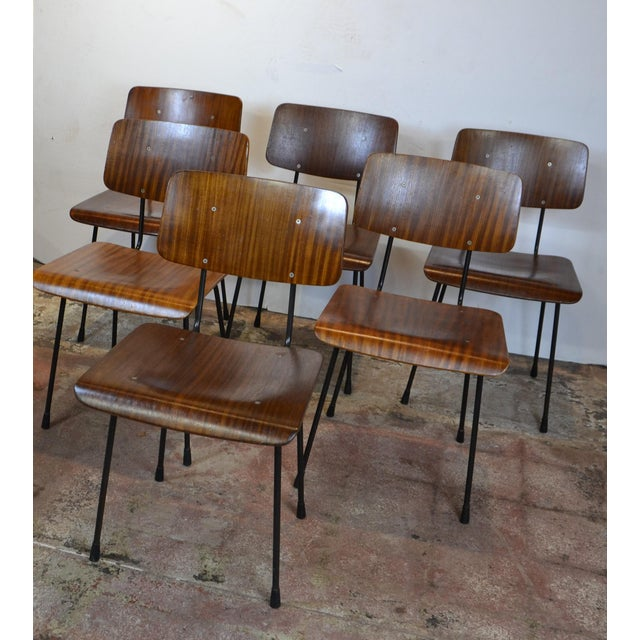 Peachy 1970S Vintage Bent Wood Dining Chairs Set Of 6 Gmtry Best Dining Table And Chair Ideas Images Gmtryco