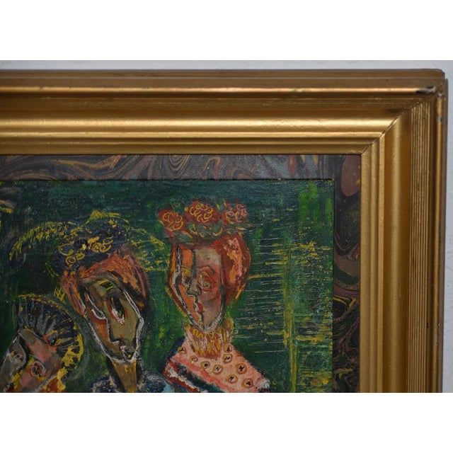 """Mid 20th Century Ruth Rosekrans (1926-2007) """"Sisters"""" Original Oil Painting C.1950s For Sale - Image 5 of 10"""
