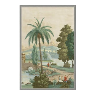 China Palm by Paul Montgomery in Silver Frame, Large Art Print For Sale