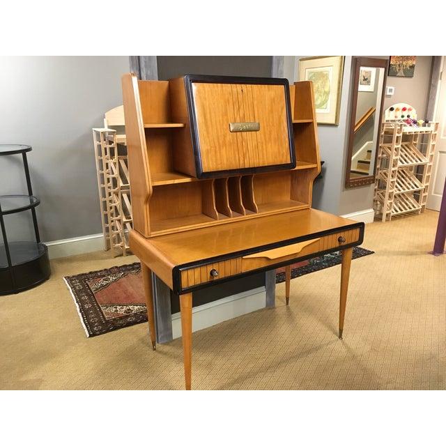 Danish Modern 1950s Danish Modern Teak Writing Desk For Sale - Image 3 of 3