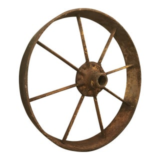 Antique Industrial Rusted Wheel For Sale