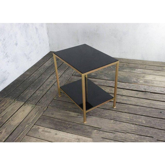 Marcelo Iron End Table With Polished Granite Surface For Sale In New York - Image 6 of 11