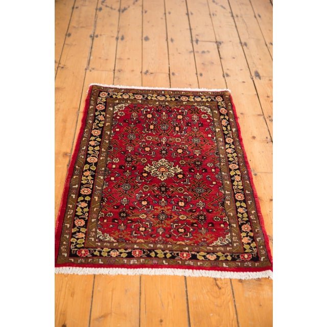 "Vintage Hamadan Rug - 2'4"" X 4' For Sale - Image 5 of 6"