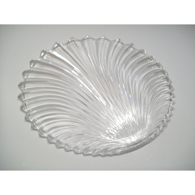 Lead Crystal Shell Platter - Image 3 of 5