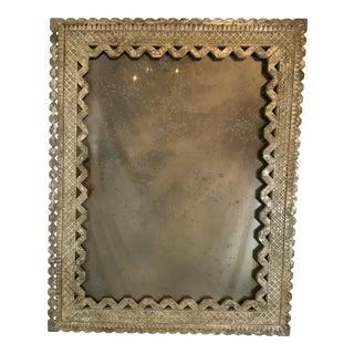 Italian Silver Gilt Mirror For Sale