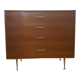 1950s Vintage George Nelson for Herman Miller Walnut 4-Drawer Dresser