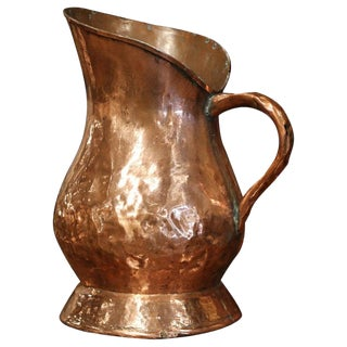 18th Century French Polished Copper Decorative Coal Bucket or Umbrella Stand For Sale