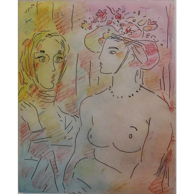Peter Max - Homage to Pablo Picasso -Original Color Etching For Sale - Image 4 of 9