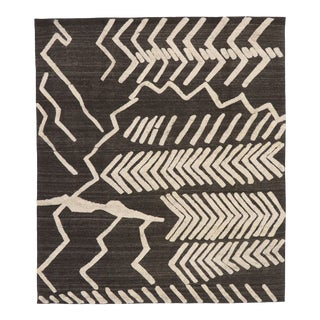 Contemporary Moroccan Style Kilim Tribal Rug - 08'08 X 09'11 For Sale